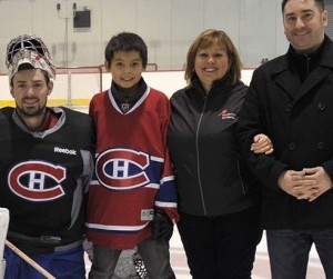 Carey Price Meets Trent Leon at Anahim Lake